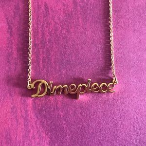 14k Gold Dimepiece Necklace